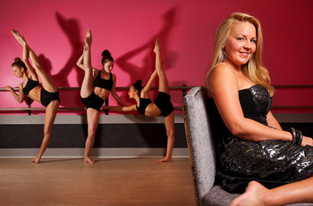 Christina Wiginton, right, owner of CK Danceworks, is pictured in her new studio in Georgia.