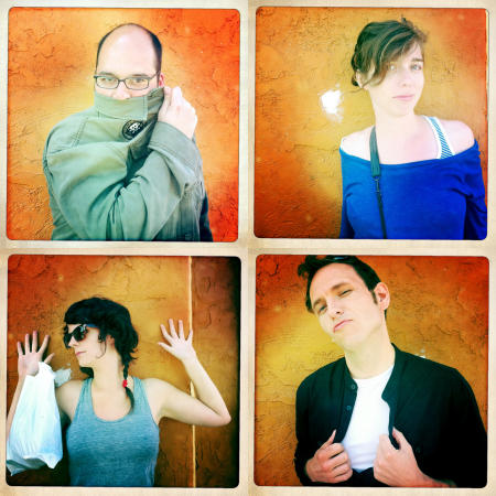 Clockwise; Kamran Mir, Megan Lovett, Elizabeth Cline and John Rash show their good sides in San Diego, Ca.